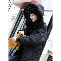 2019 Yeni Moda Kadınlar Kış Kalın Sıcak Pamuk Parka Ceketler Coats Hood Lady Kore Uzun Kapşonlu Kürk Yaka Kar Kabanlar Sıcak cheap cotton fashion coats for ladies nereden bayanlar için pamuk moda katları tedarikçiler