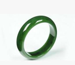 Wholesale Rope Necklaces Materials - Natural jade mountain material Kunlun jasper wide hand bracelet female jade jade spinach green jasper bracelet