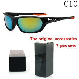 Wholesale mercury mix - brand cycling sports sunglasses mens designer sunglasses color mercury reflective sunglasses hot 10 color glasses with original box