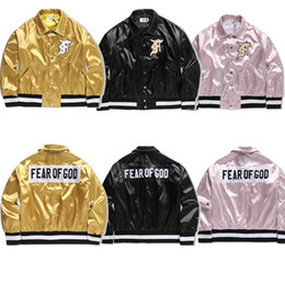 Wholesale high quality jackets - Fear Of God Jacket Men Women 1: 1 High Quality Fashion Winter Clothing Fog Justin Bieber Clothes Fear Of God Bomber Jacket 2018