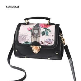 97ac32d813d5 Women Handbag Oil Picture Pattern Women Bag Fashion PU Leather Female  Shoulder Bags Luxury Messenger Bags Famous Design Tote Bag
