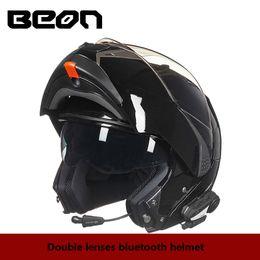 2019 шлем с откидным верхом BEON Двойные линзы откидные мотоциклетные шлемы BLUETOOTH полнолицевые шлемы для мотоциклистов Racing Riding casque moto шлемы дешево шлем с откидным верхом