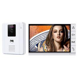 Wholesale Wired Doorbell Intercom System - 9 inch Monitor Wired Video Door Phone Visual Intercom Doorbell System IR Camera