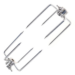 Решетки для замены онлайн-2 Pcs Stainless Steel Rotisserie  Forks Kit Grill Replacement With Square Spit Rods