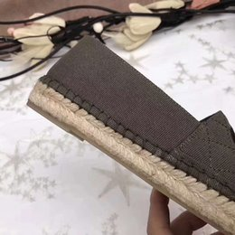 Wholesale Canvas Espadrille - Espadrilles Casual Shoes Vintage Brand Roman Holiday Style Design 2018 Sandals by Free DHL Shipping