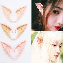 Elf cosplay online-Elfenohr Halloween Fee Cosplay Accessores Vampir Party Maske Für Latex Weiche Falsche Ohr 10 cm Und 12 cm WX9-934