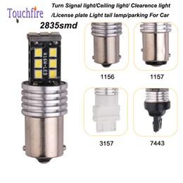 Wholesale 3157 Bulb Wholesale - 10pcs 1156 1157 7413 3157 LED 2835smd Canbus Auto Car lamp AC 12v Width turn Signal Brake fog Clearance Licence indicator light