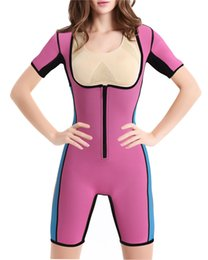 Più bodysuits online-Plus Size Neoprene Zipper Trainer Vita che dimagrisce Tummy Control Body Donna Full Body Shaper Perdita di peso Butt Lifter Corsetto
