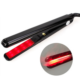 Wholesale hair straightener infrared - LCD Ultrasonic Infrared Hair Care Iron Tool Recover Hair Damaged Smoothly Hair Treatment Cold Straightener
