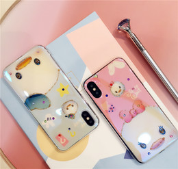 Wholesale flash case iphone - Blu-ray Diamond iPhone Case New Design Laser Flash Powder Soft TPU Phone cases for iPhone X 8 7 6 6S Plus