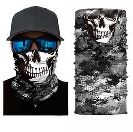 Wholesale Mask Face Shield - Wholesale-Skull Scarves Face Shield Multifunction Bandana Tubular Multifuncional Sunscreen Balaclava Magic Scarf Bicycle Mask Neck Tube