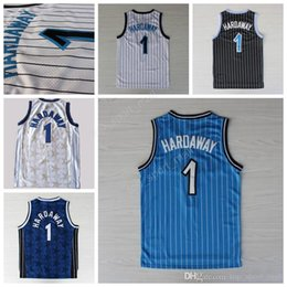 Wholesale Vintage Black Fan - Throwback 1 Penny Hardaway Basketball Jerseys Sale Men All Stitched Vintage Penny Hardaway Jersey For Sport Fans Color Black White Blue