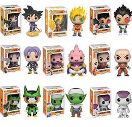 bola de dragão z majin buu Desconto Funko Pop Dragon Ball Z Super Saiyan Goku Vegeta Majin Buu Troncos Figura de Ação de Vinil Com Caixa # 121 # 24 # 156 # 14