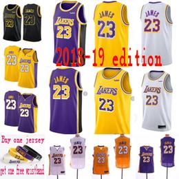 4ac2445d5 2019 New Los Angeles Jersey Laker 23 LeBron James 2 Ball 0 Kuzma Lakers Maillots  de Basketball La ville Souhait 77 Luka Doncic Stitched maillots de basket  ...
