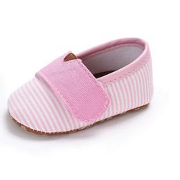 Zapatillas de lona rosa bebé online-Cute Toddler Kids Canvas Shoes Zapatillas Baby Boy Girl Soft Sole Cuna Zapatos First Walkers 0-18Months Pink Blue