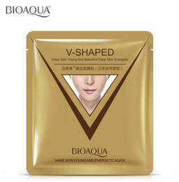 shape mask Coupons - BIOAQUA V-Shaped Ear Loop Style Facial Mask 3D V-Line Lifting Firming Face Mask Tighten Chin Cheek Reduce Puffiness