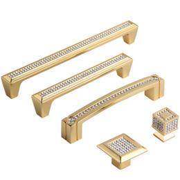 cabo de gaveta de cristal de ouro Desconto 192mm moda de luxo K9 cristal villadom punho da mobília de prata de ouro gaveta do diamante armário cabibet botão quadrado puxar 5