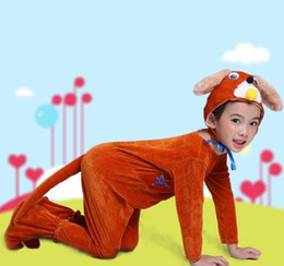 Wholesale animal costume suits - 2018 New style Children Cosplay Suit Animal perform clothing Conjoined Dance clothes
