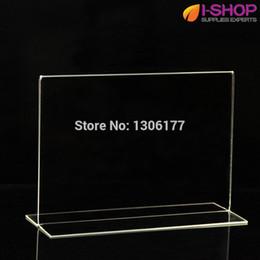 Пейзаж держателя онлайн-T Shape Stand up Sign Holder Picture Frame Ландшафтный счетчик дисплея 148x210mm PT2-03
