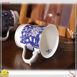 1pcs пара подарок кружка тонкой кости фарфора чашки личности Керамическая кружка домашнего офиса Drinkware поставляет молоко чашка кофе 6ZDZ315 от