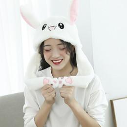 Red lindo sombrero de orejas de conejo más un sombrero cálido, las orejas pueden moverse. desde fabricantes