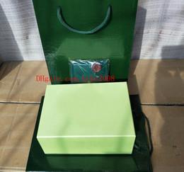 Argentina Reloj de alta calidad de alta calidad original del reloj verde Caja de tarjetas Cajas del monedero bolso 0.8 KG para Sea-Dweller 126660 116610 116660 116710 Relojes cheap seas card Suministro