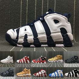 d2091243c251 2018 Air More Uptempo женская мужская баскетбольная обувь, высокое качество  трехцветный Scottie Pippen PE тройной Белый спортивные кроссовки US5.5-13