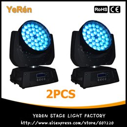 Wholesale Pro Stage Lighting - (2PCS) Pro Stage Light 36x10W RGBW LED Moving Head Zoom Wash Light 4in1 Quad Color LED Stage Lighting DJ