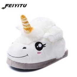 Wholesale Wholesale Small Black Dolls - FeiYiTu Cute Couple Cotton Slippers Large Yellow Duck Doll Small Floor Carpet Slippers Winter Warm shoes Home Zapatillas