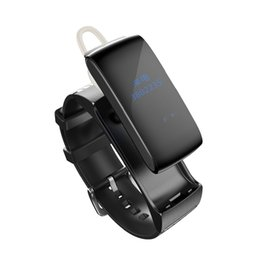 Wholesale talk band - Smarcent Talk band DF22 Fitness Tracker Smartband Bracelet Wristband Smart Band Sleep Monitor For xiaomi huawei phone