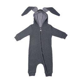 Wholesale Boy Rabbits - Baby Rabbit Hooded Bodysuits Ears Boys Girls Rompers Long Rabbit Ears Zipper 95% Cotton Long Sleeve Spring Autumn 3-18M