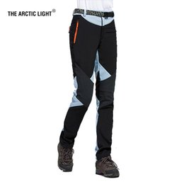 Wholesale Thermal Outdoor Pants Women - THE ARCTIC LIGHT Hiking Camping Skiing Pants Outdoor Traverse Soft shell Trousers Waterproof Windproof Thermal For Women