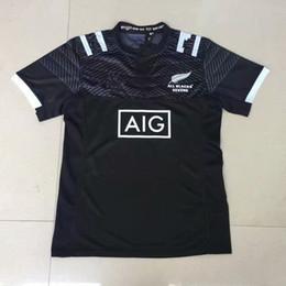 Jerseys europeos de fútbol online-2018, el nuevo jersey de rugby para 7 personas de la familia completamente negra proporciona el tamaño europeo S-M 3XL de la Super camiseta Super Football de 2018 a 2019.