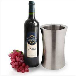 Cubetas de hielo de acero inoxidable de la cintura del cubo de Champagne del vino de la alta calidad y Barware de los refrigeradores desde fabricantes