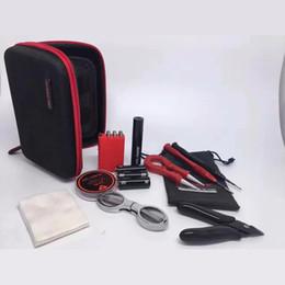 Wholesale Atomizer Ohms Meter - Vapor Coil Master mini Tool Kit Rda Tools Rebuild Kits Ohm Meter Kuro Koiler Coil Jig Kbag for Vape Mods RBA Atomizer Coils