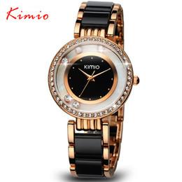 Wholesale Kimio Watches - Wholesale-KIMIO Brand Relojes mujer Quartz watches women Luxury Diamond Rhinestones Dress girl Bracelet watch Ladies clock female watches