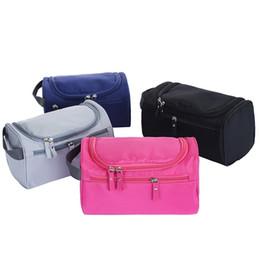 Gli uomini compongono online-2018 Fashion Waterproof Men's Cosmetic Bag Nylon Organizer da viaggio Make Up Lady Grandi necessità Cosmetici Toilet Makeup Bag per le donne