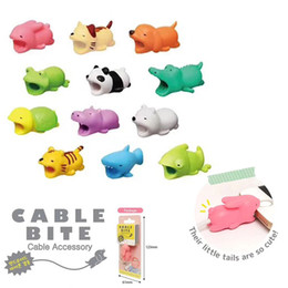 Wholesale charge cords - Cable Bite Charger Cable Protector Savor Cover for iPhone Lightning Cute Animal Design Charging Cord Protective