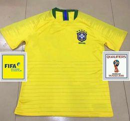 5ebd86311 2018 world cup Brazil home Soccer Jersey Brasil 10 NEYMAR JR soccer shirt   11 COUTINHO  9 G.JESUS Brazil home yellow Football uniforms sales
