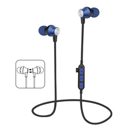 Wholesale Wireless Sweatproof Headphones - MS-T2 Bluetooth Headphones Sweatproof Sports Earphones Wireless Headset TF Card Magnetic attraction Earbuds for iphone X 8 plus Samsung LG