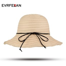 67d554ad52f Fashion Summer Sun Hat Women Big Wide Brim Straw Hat Seaside Shade Cap  Foldable Sun Block UV Protection bone Wholesale