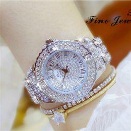 Cor de ouro vestidos de noite on-line-2017 BS Abelha Irmã Frete Grátis Strass Diamante Relógios Moda de Luxo de Quartzo da Cor do Ouro para o Vestido de Festa À Noite Relógio de Pulso C18111301