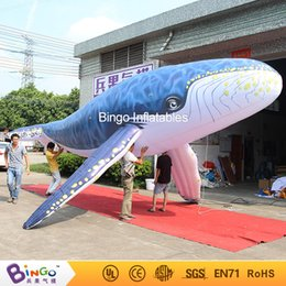 Wholesale Long Tent - 8m long inflatable Humpback whale with mini blower BG-A1187 toy