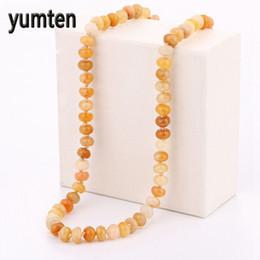 collana di perle di topaz Sconti Yumten Topaz Collana Donna Perle di raffinatezza Cristallo naturale Perle rotonde Catena Equilibrio Potere Pietre preziose Colares Grandes Mulher