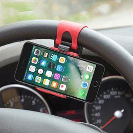 Evrensel Araç Tutucu Direksiyon Bisiklet Klipsi Dağı Lastik Bant Tutucu iPhone Samsung Samsung Cep Telefonu Için Braketi nereden kauçuk mobil tutucu tedarikçiler