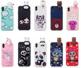 Wholesale 3d Huawei Phone Case - 3D Cartoon Case For Huawei P10 Lite P9 Mate 10 Lite Honor 9 Lite P8 Owl Unicorn Bear Soft Silicone Panda Unicorn Cover Rubber Cat Phone Skin