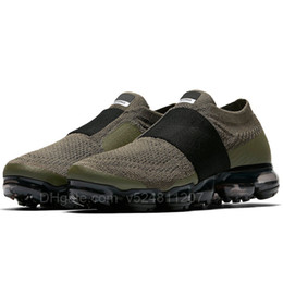 Wholesale Vapor White - Vapormax 2018 Moc Releasing Mens Laceless Multicolor Triple Black For Mens Running Shoes Sneakers For Women Racer Vapor Shoe