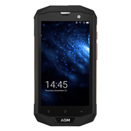 Wholesale Rugged Phones Gps - AGM A8 IP68 Waterproof 5.0Inch Smartphone Rugged 4G LTE Quad Core 3GB+32GB Smartphone Dustproof Android7.0 Phone US Version