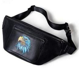 Wholesale Travel Sling Leather - Famous Brands High quality Head layer cowhide Men Travel Bags Zipper Crossbody Sling Bag Celular Fanny Pack Fashion Waist Bag