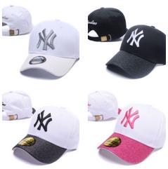 Wholesale men s black baseball caps - New letter Baseball Caps 2018 New York#yankees#s Embroidery Hip Hop bone Snapback Hats for Men Women hat Adjustable Gorras Casquette Unisex